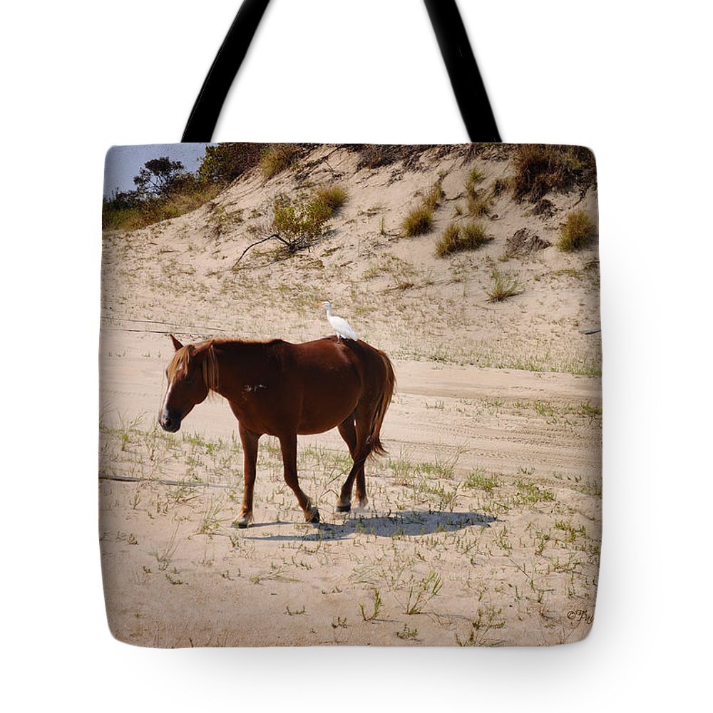 Feature Tote Bag featuring the photograph Corolla Hitchhiker by Paulette B Wright