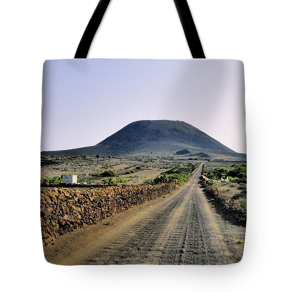 Volcano Tote Bag featuring the photograph Corona Volcano On Lanzarote by Karol Kozlowski