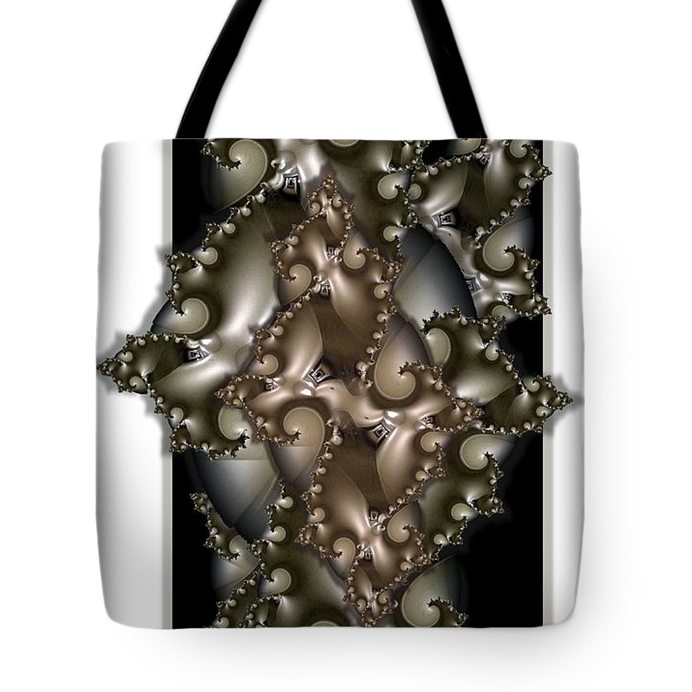 Collage Tote Bag featuring the digital art Corridors by Ron Bissett