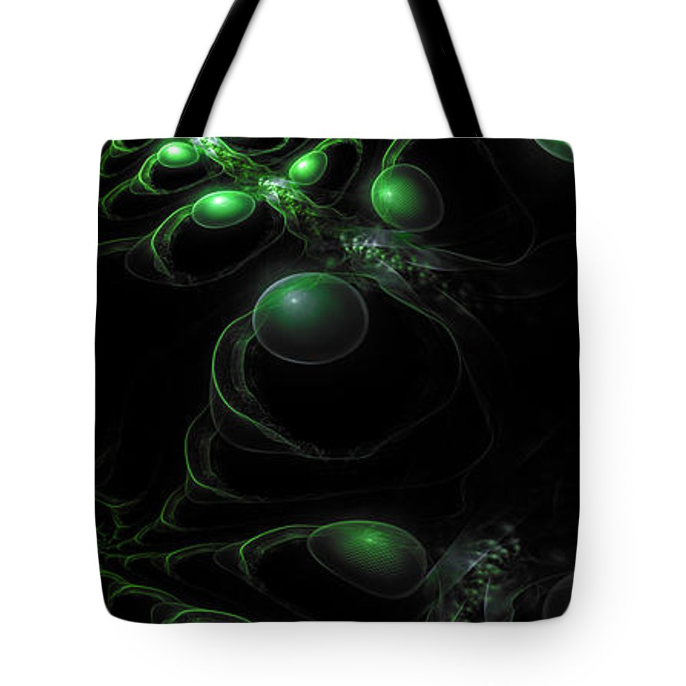 Corporate Tote Bag featuring the digital art Cosmic Alien Eyes Original 2 by Shawn Dall