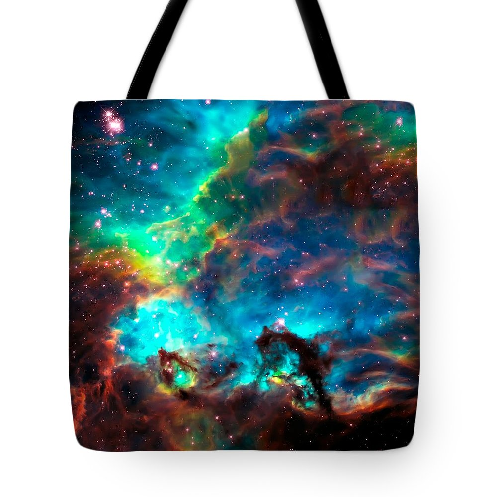 Nasa Images Tote Bag featuring the photograph Cosmic Cradle 2 Star Cluster NGC 2074 by Jennifer Rondinelli Reilly - Fine Art Photography