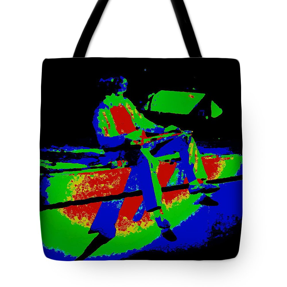 Sammy Hagar Tote Bag featuring the photograph Cosmic Motor Scooter In Spokane 1977 by Ben Upham