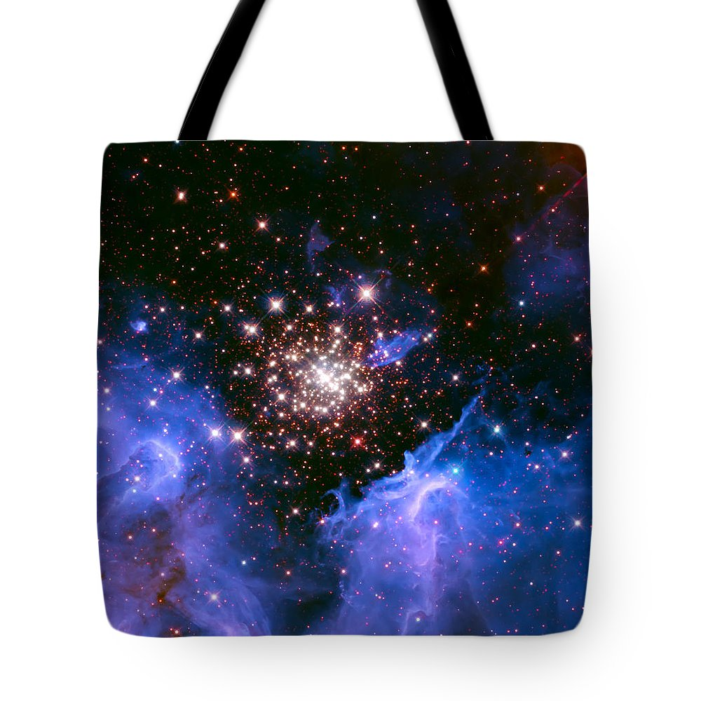 Nebula Tote Bag featuring the photograph Cosmic Mountains by Jennifer Rondinelli Reilly - Fine Art Photography
