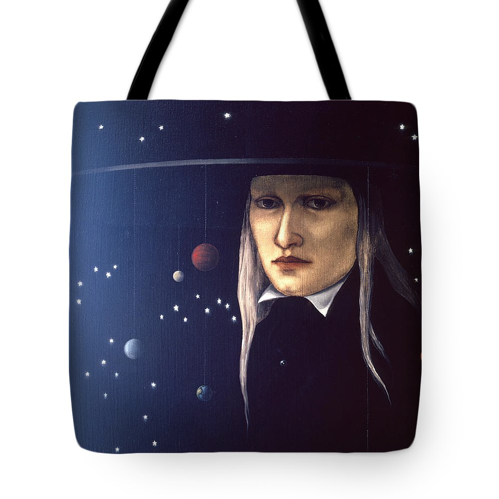 Cosmic Tote Bag featuring the painting Cosmic Pilgrim by Jane Whiting Chrzanoska