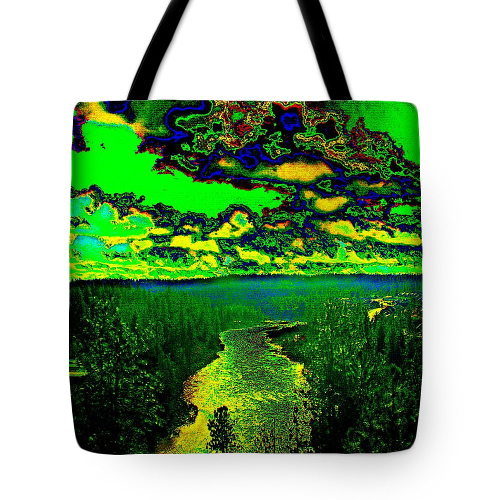 River Tote Bag featuring the photograph Cosmic River 2 by Ben Upham III