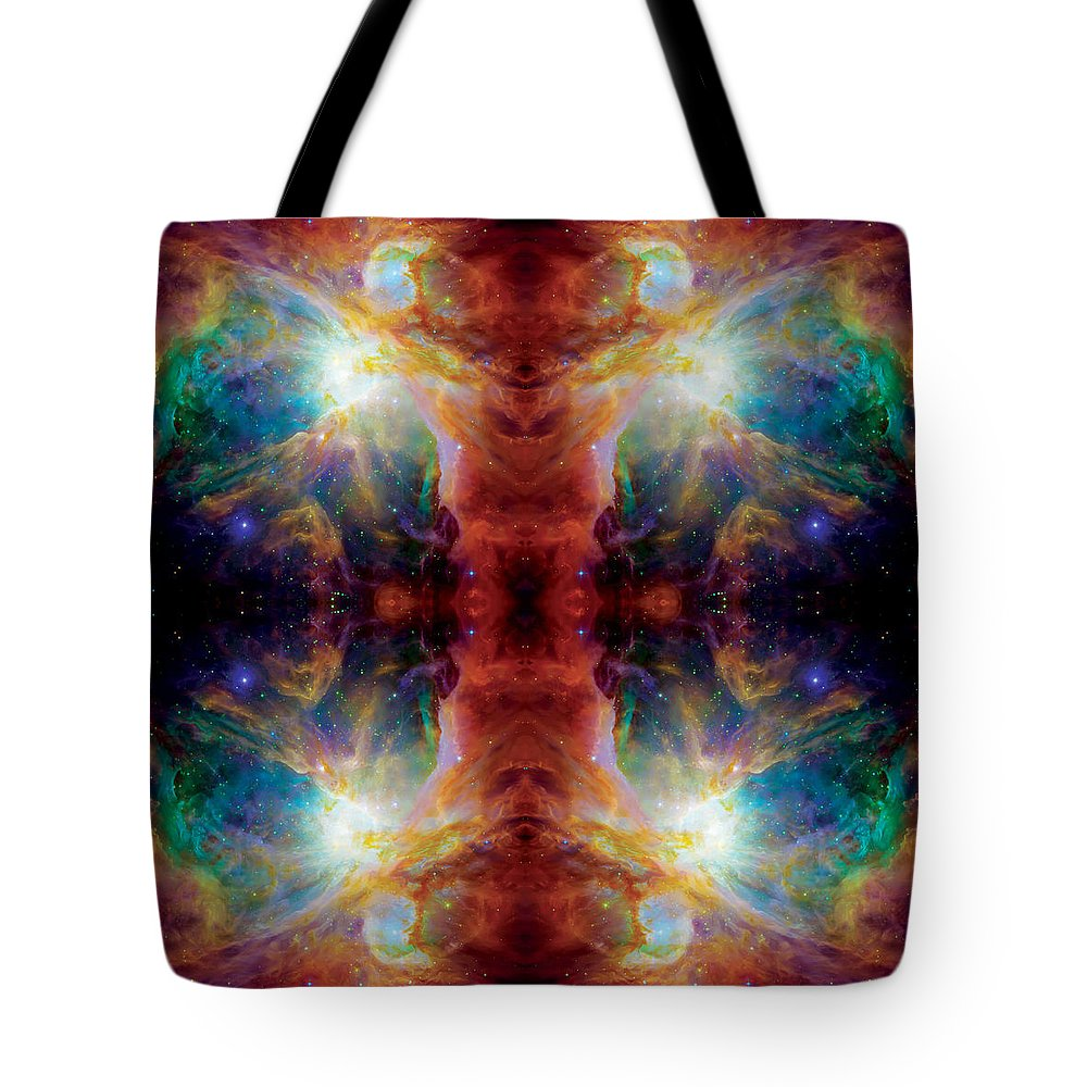 Nasa Images Tote Bag featuring the photograph Cosmic Spine Deep Space Reflection by Jennifer Rondinelli Reilly - Fine Art Photography