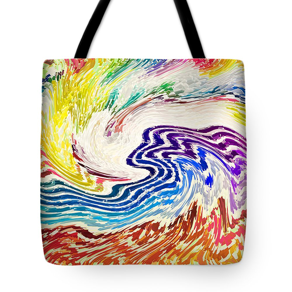 Waves Tote Bag featuring the photograph Cosmic Waves by Alys Caviness-Gober