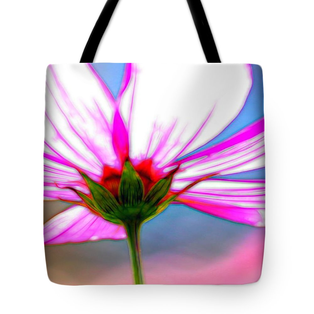 Ohara Tote Bag featuring the photograph Cosmos Abstract In Ohara by Karen Jensen