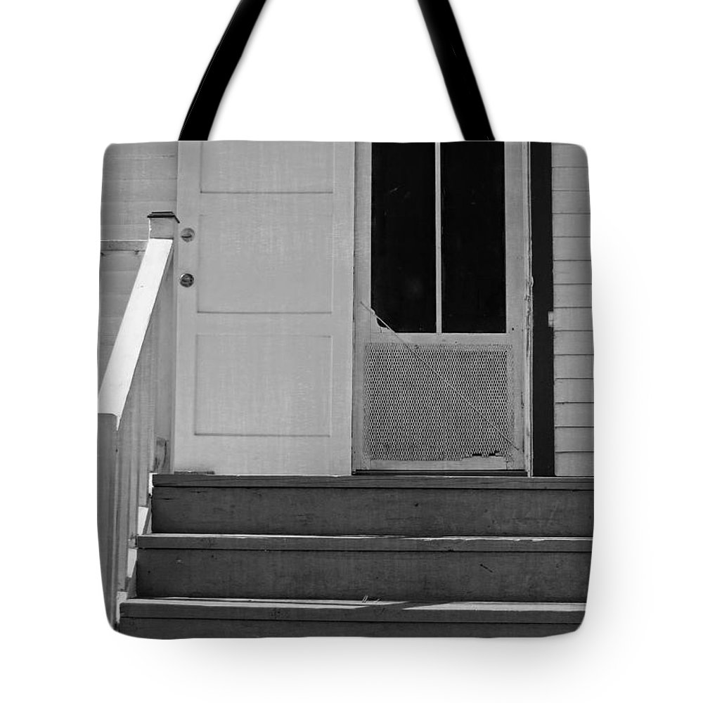 Cottage Tote Bag featuring the photograph Cottage 5 Stair Steps Home by Ella Kaye Dickey