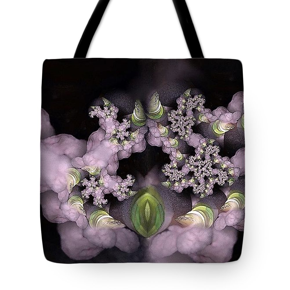 Collage Tote Bag featuring the digital art Cotten Tail by Ron Bissett