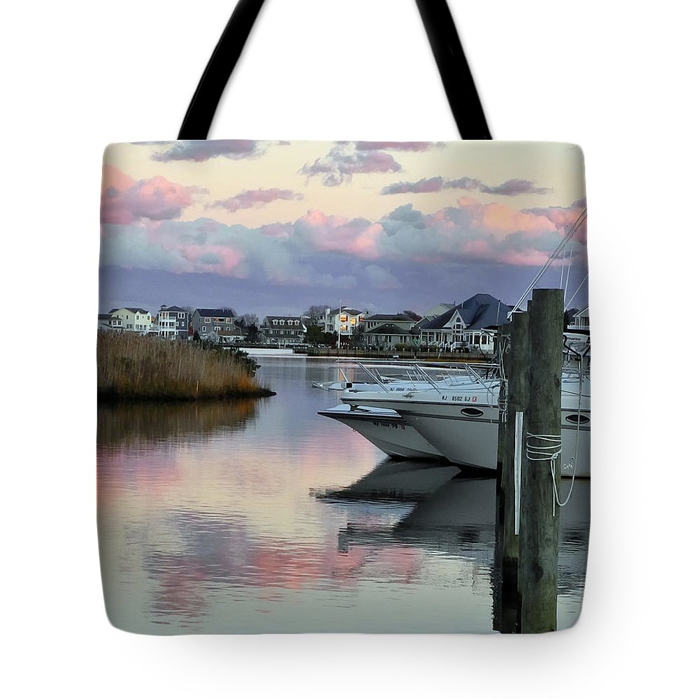 Portrait Tote Bag featuring the photograph Cotton Candy Clouds Two by Sami Martin