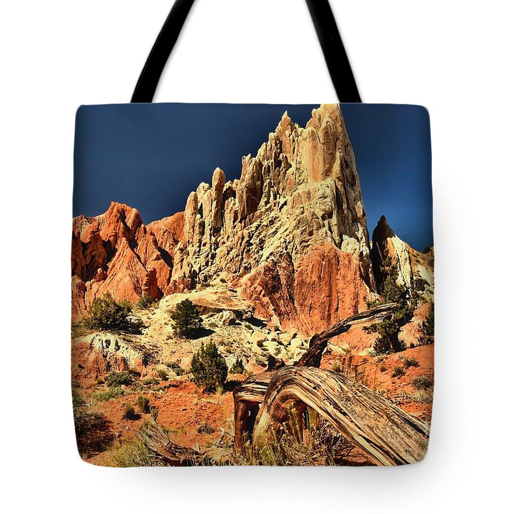 Cottonwood Road Tote Bag featuring the photograph Cottonwood Narrows Side Show by Adam Jewell