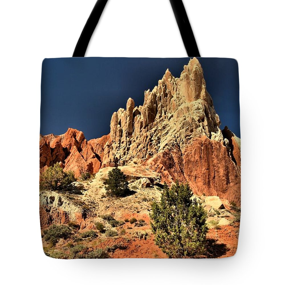 Cottonwood Road Tote Bag featuring the photograph Cottonwood Rainbows by Adam Jewell