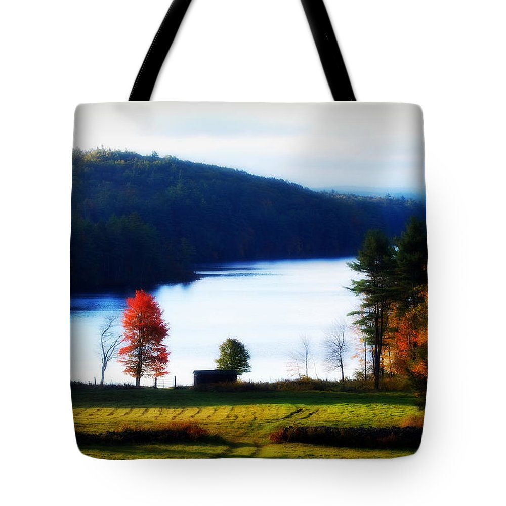 Autumn Tote Bag featuring the photograph Country Autumn by Tracy Vartanian