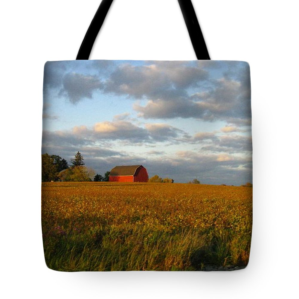 Landscape Tote Bag featuring the photograph Country Backroad by Rhonda Barrett