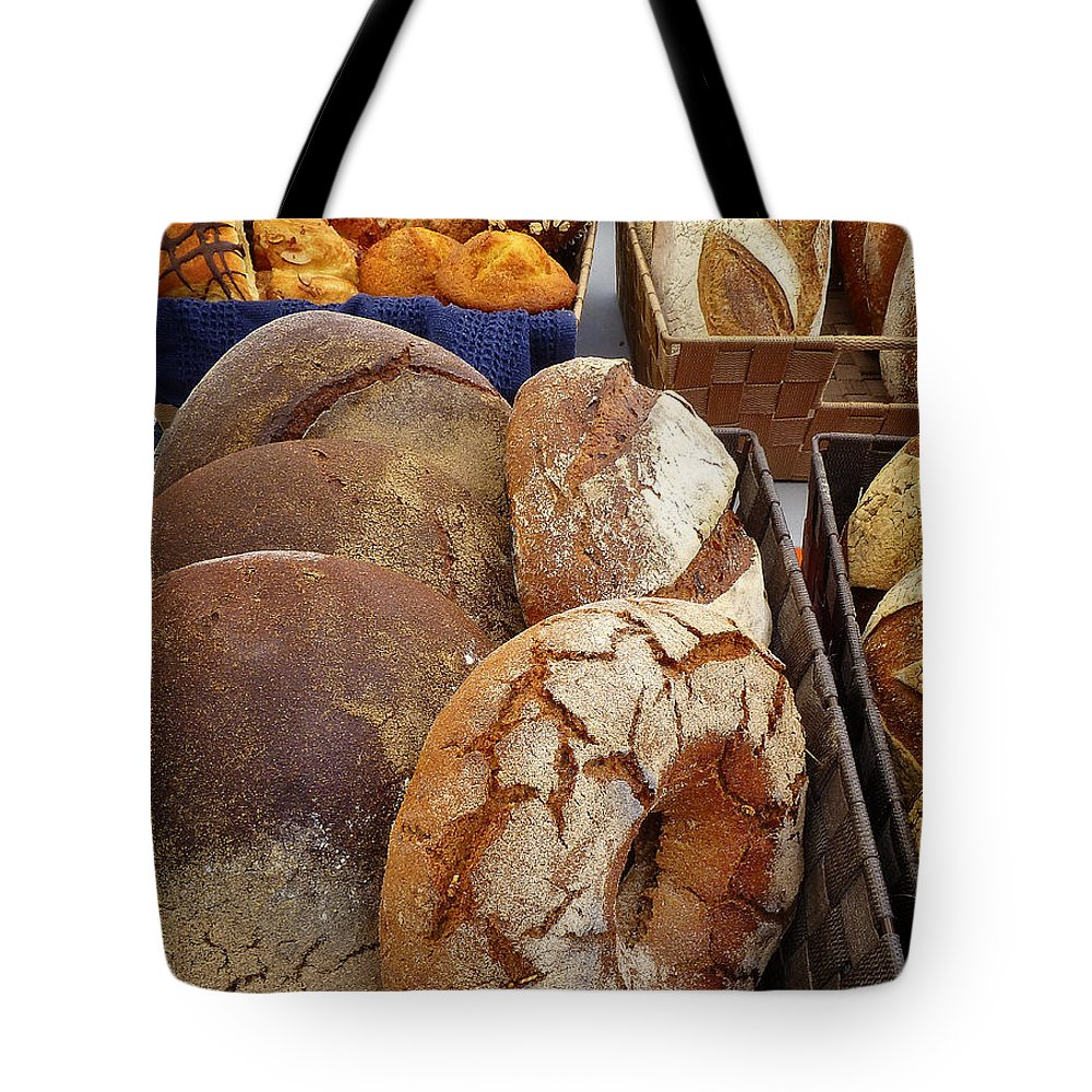 Bread Tote Bag featuring the digital art Country Bread And Muffins by Dee Flouton