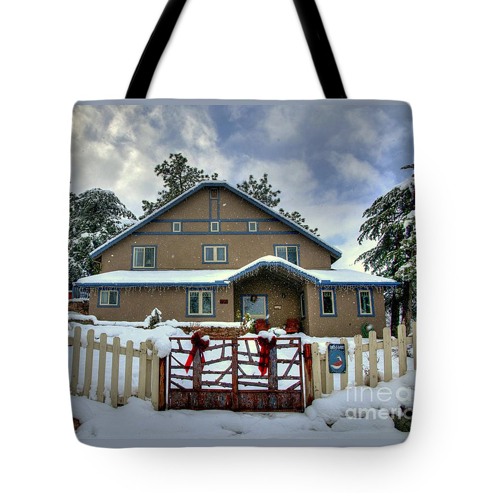 #diana Graves Photography Tote Bag featuring the photograph Country Christmas by K D Graves