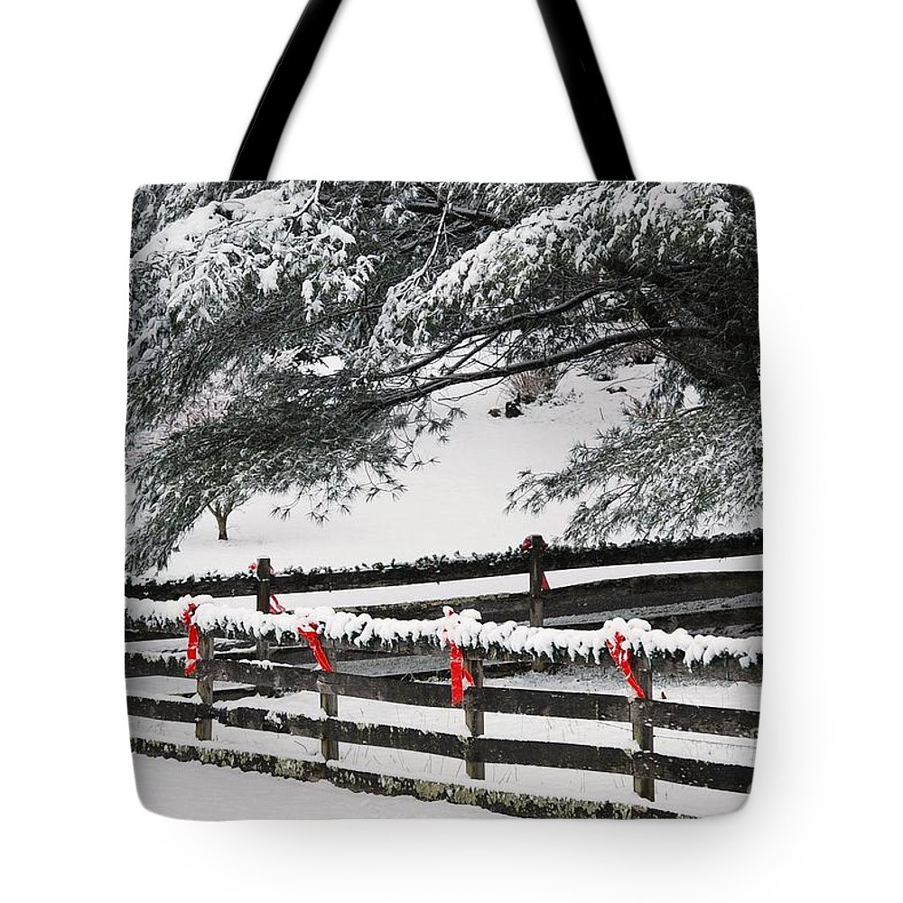 Virginia Tote Bag featuring the photograph Country Christmas by Eric Liller