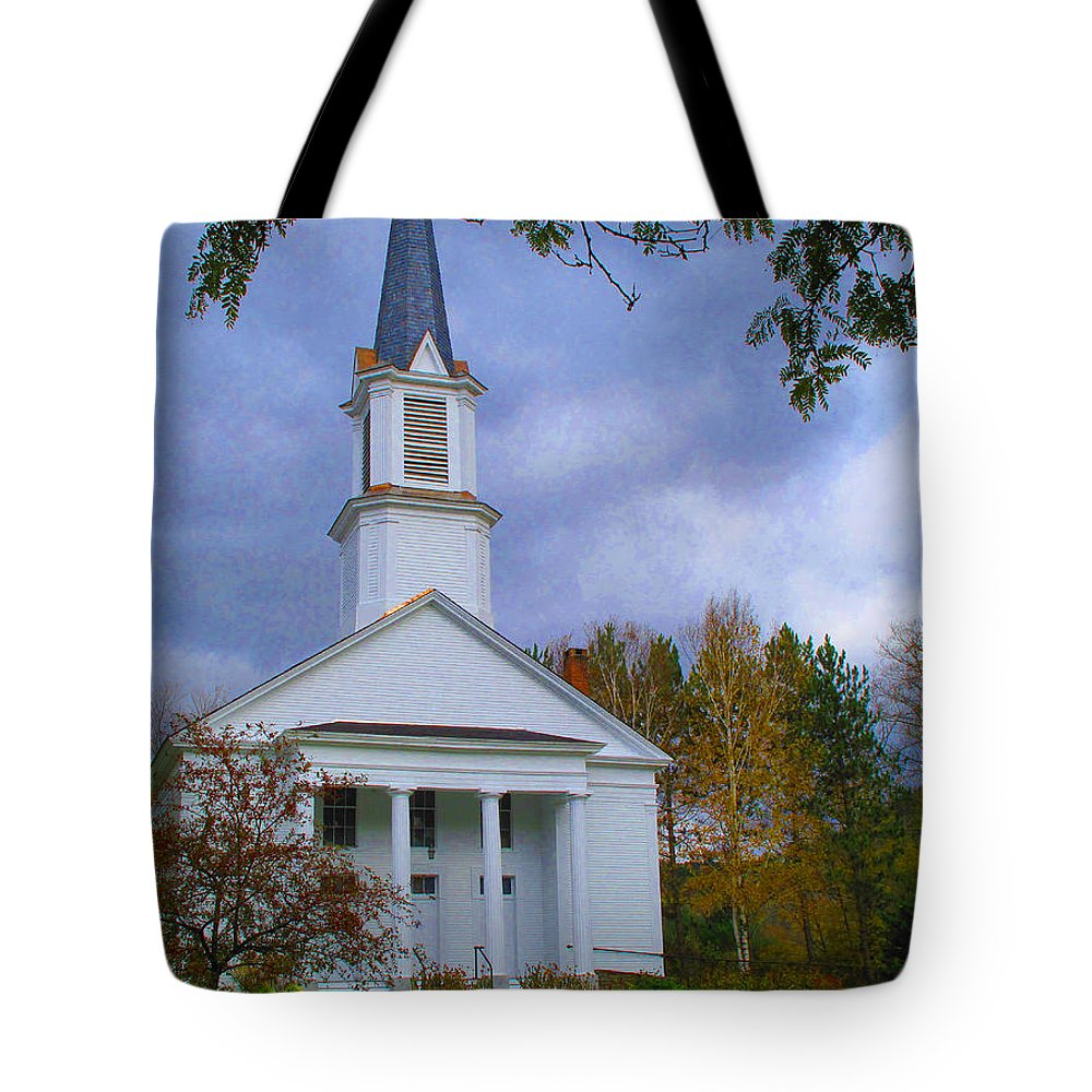 Church Tote Bag featuring the photograph Country Church by Barbara McDevitt