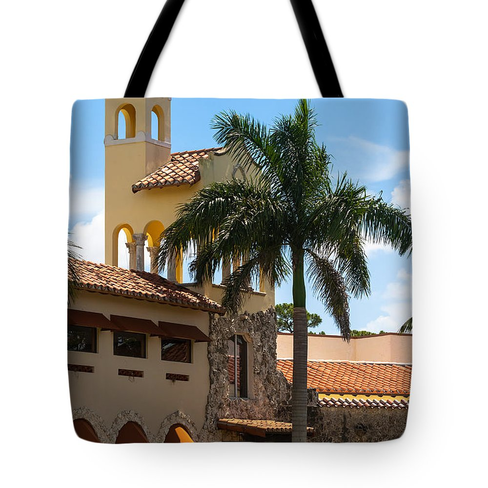 1924 Tote Bag featuring the photograph Country Club Of Coral Gables by Ed Gleichman