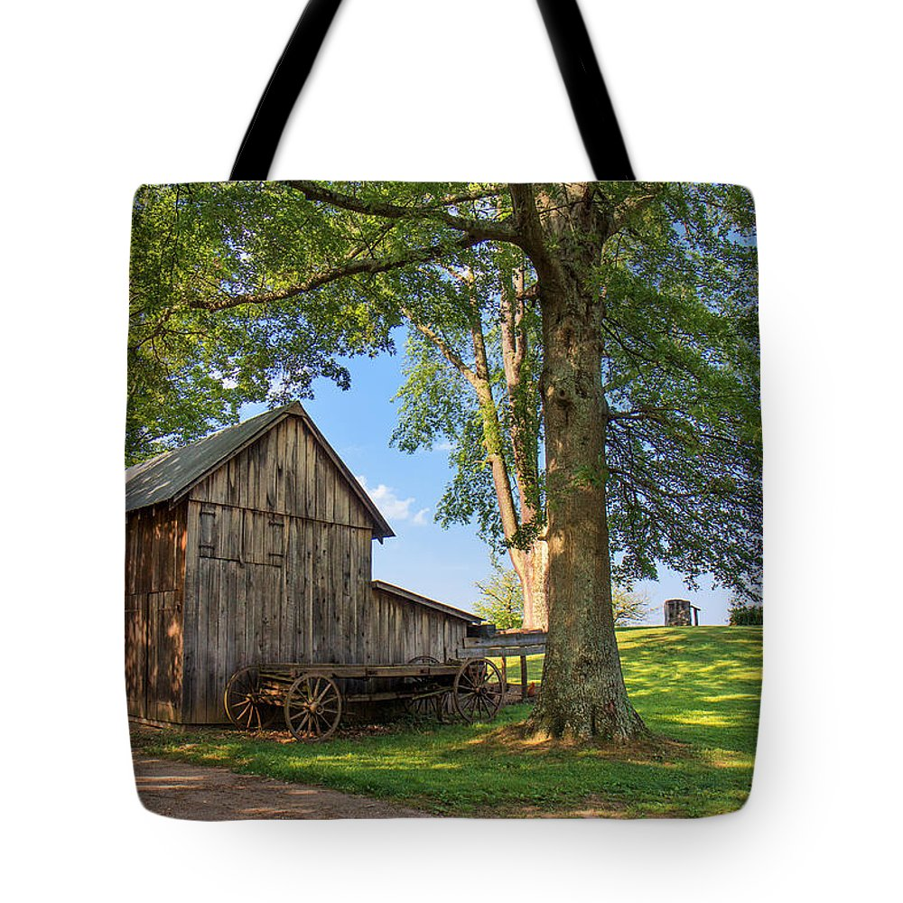Jackson's Mill Tote Bag featuring the photograph Country Farm by Mary Almond