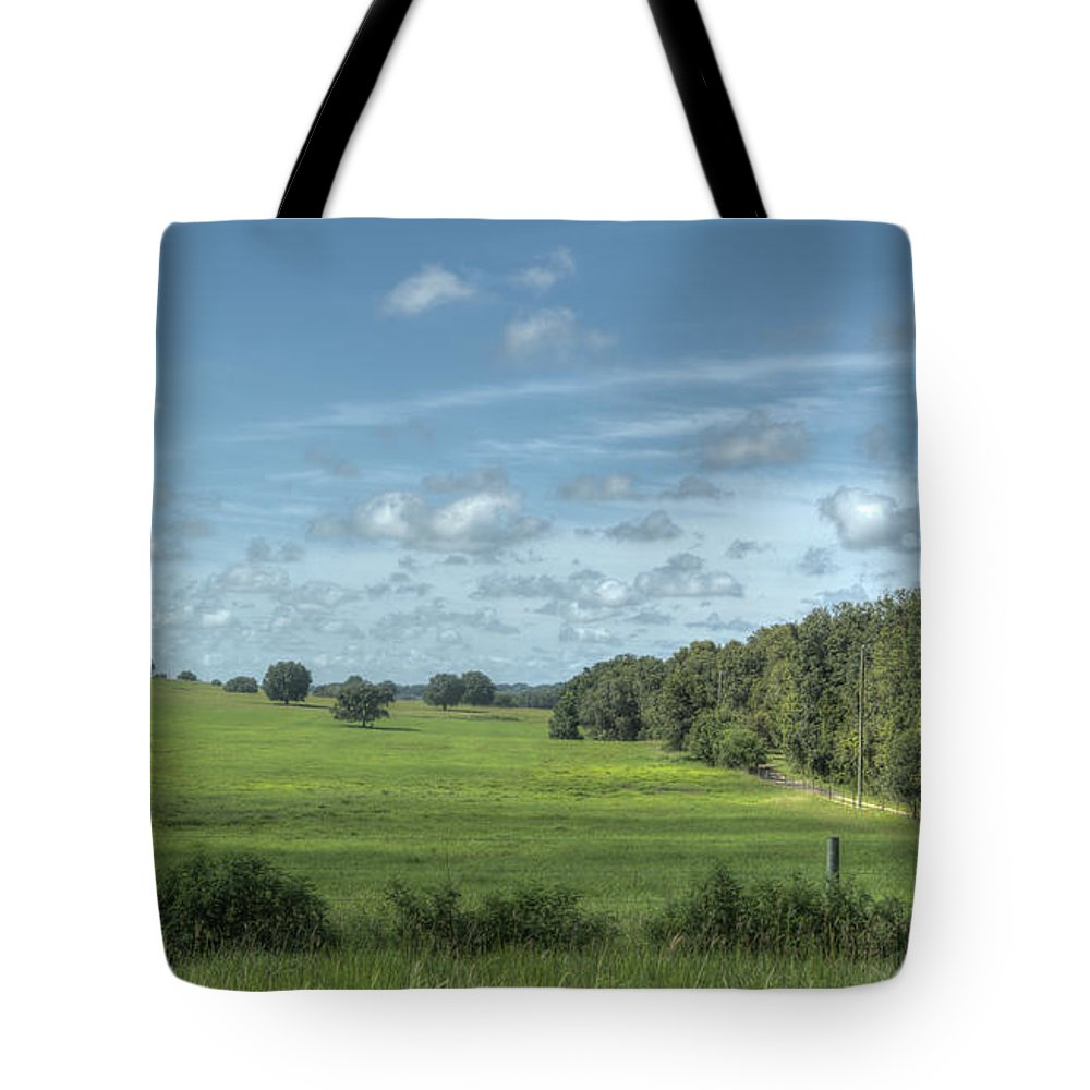 Florida Tote Bag featuring the photograph Country Field by Jane Luxton