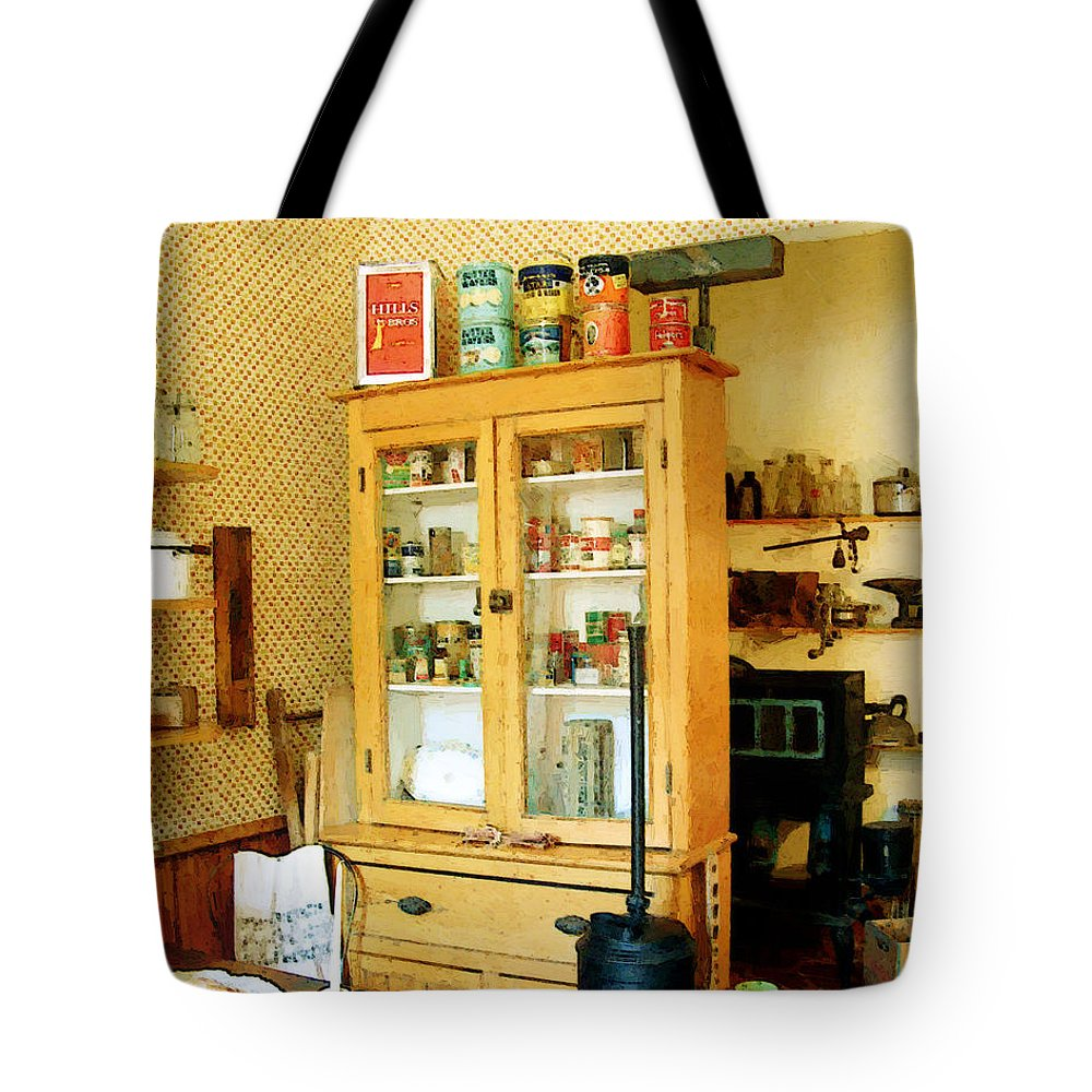 Antiques Tote Bag featuring the painting Country Kitchen Sunshine IIi by RC deWinter
