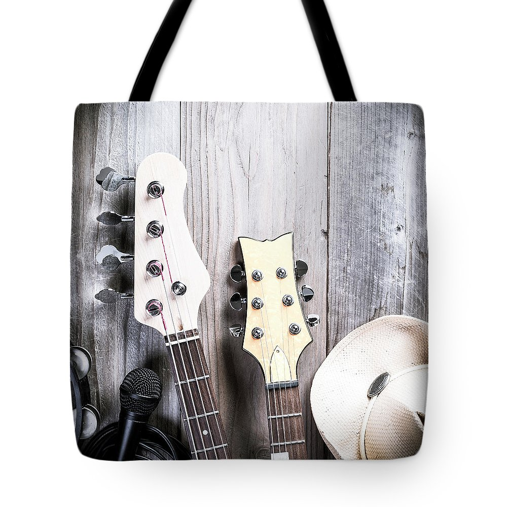 Rock Music Tote Bag featuring the photograph Country Music by Bill Oxford