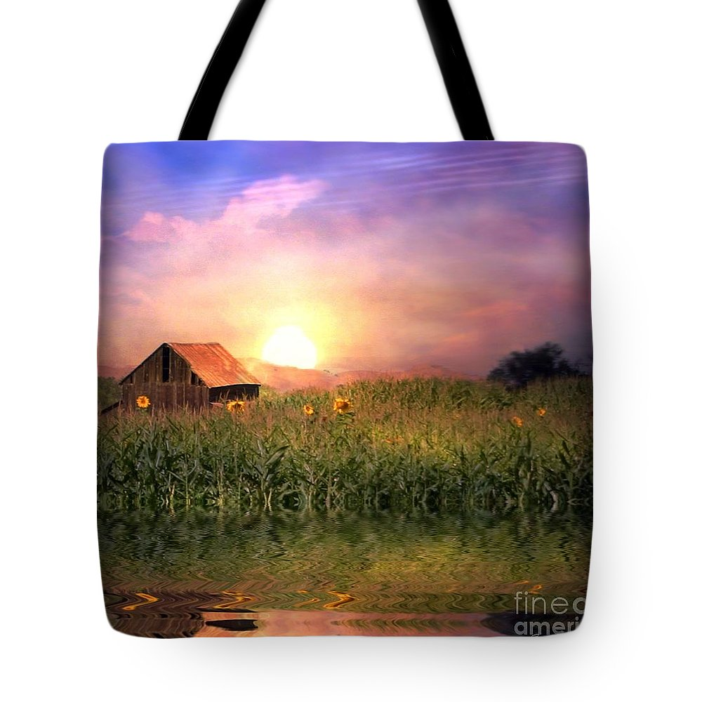 Barn Tote Bag featuring the photograph Country Paradise by Stephanie Laird
