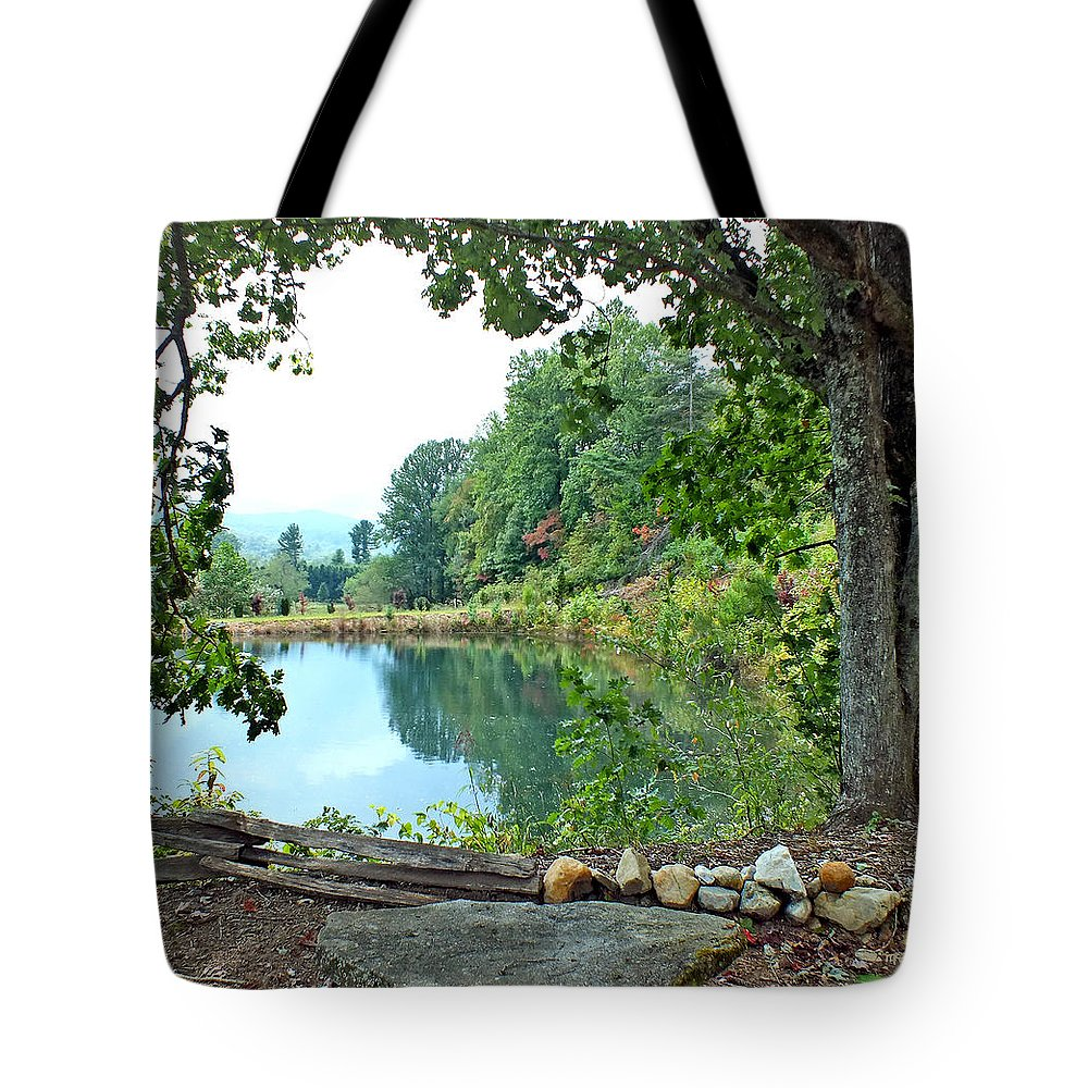 Duane Mccullough Tote Bag featuring the photograph Country Pond by Duane McCullough