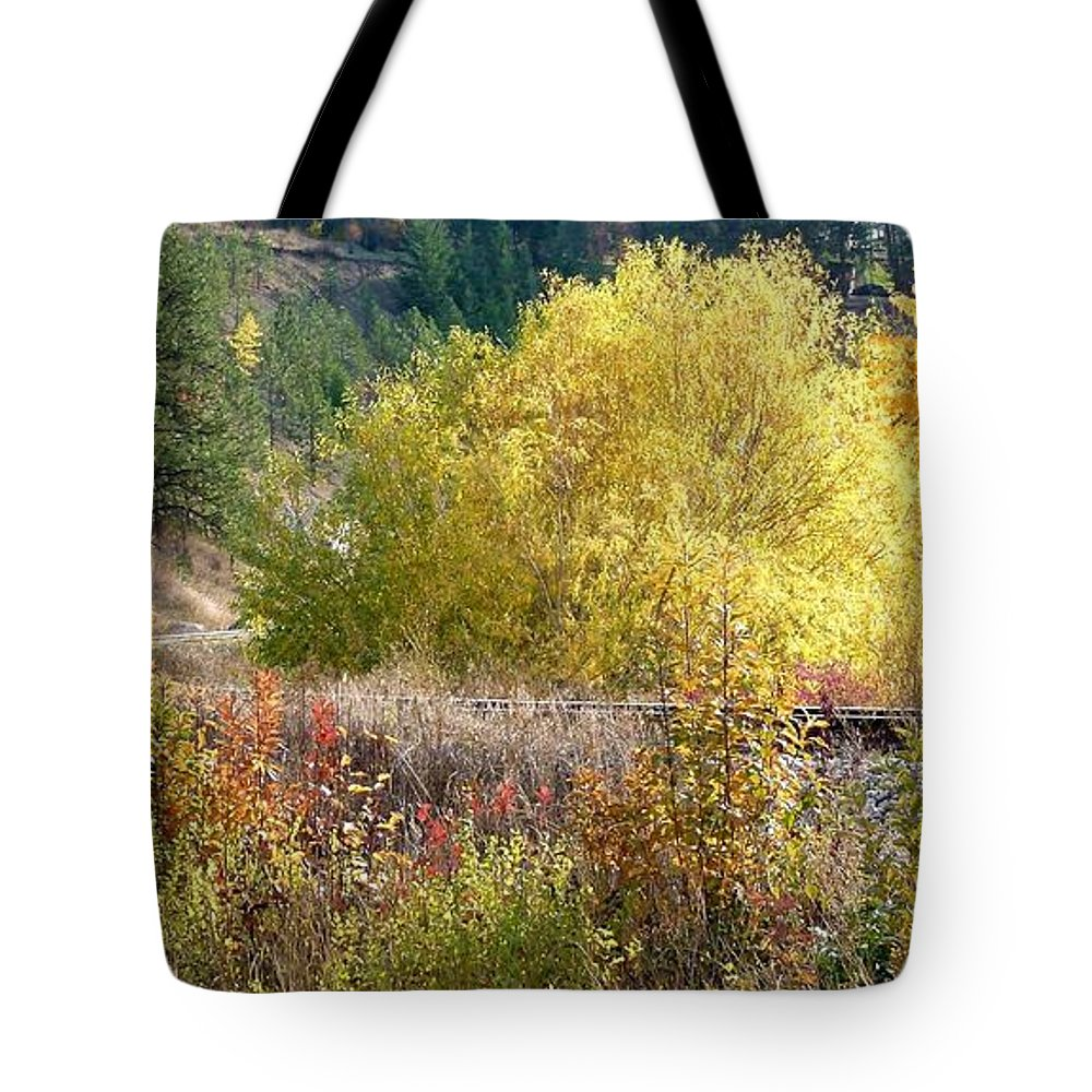 Country Railway Crossing Tote Bag featuring the photograph Country Railway Crossing by Will Borden