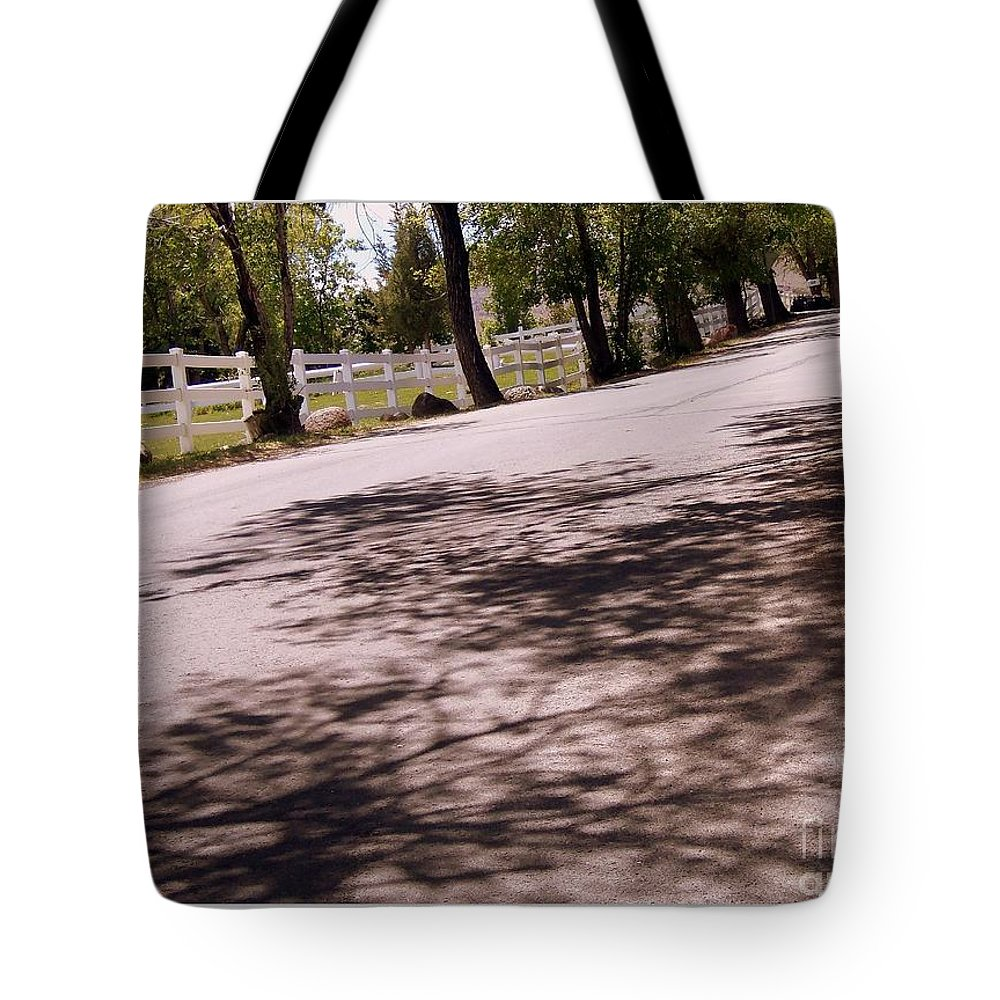 Country Prints Tote Bag featuring the photograph Country Roads by Bobbee Rickard