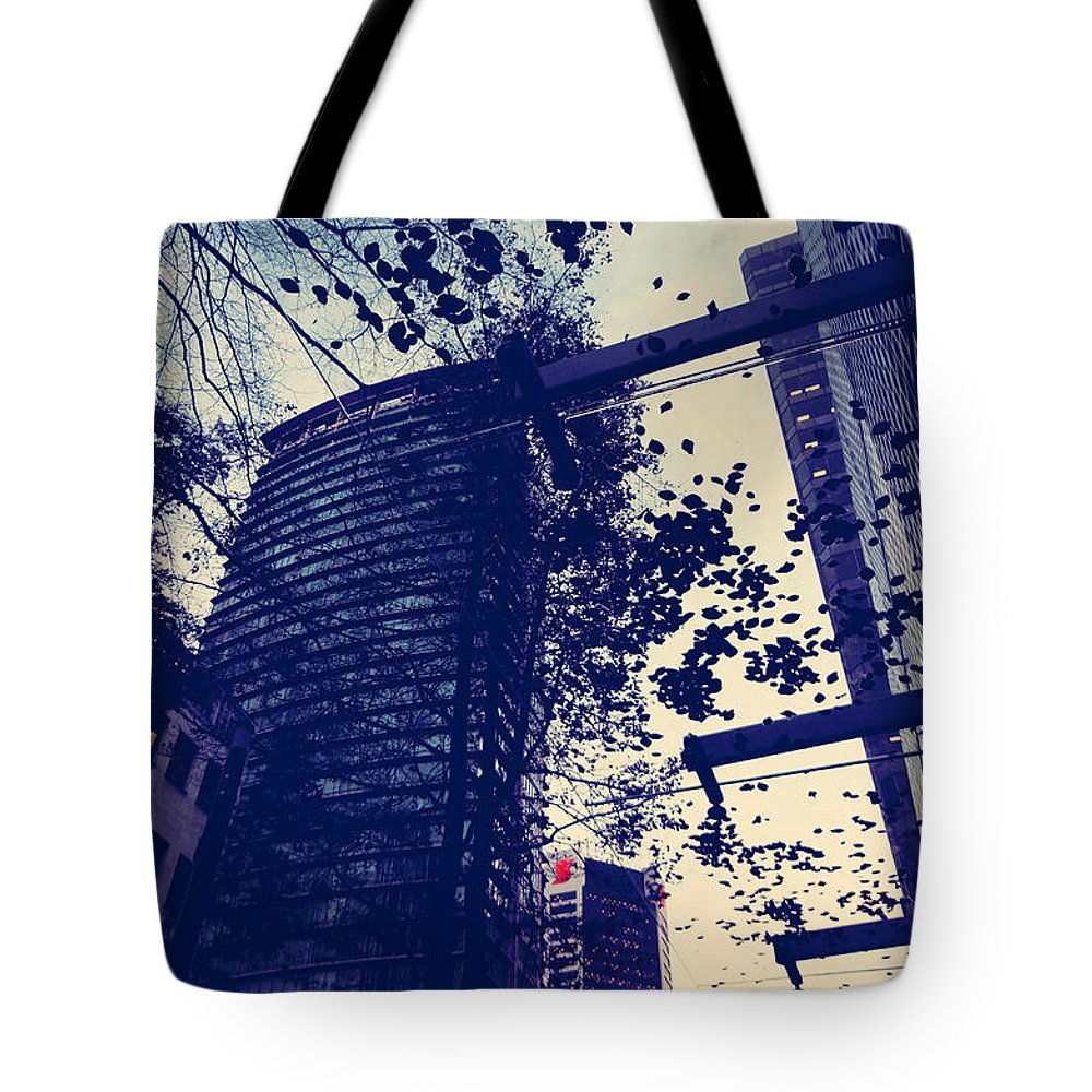 Abstract Tote Bag featuring the photograph Country Smell City Stench by The Artist Project
