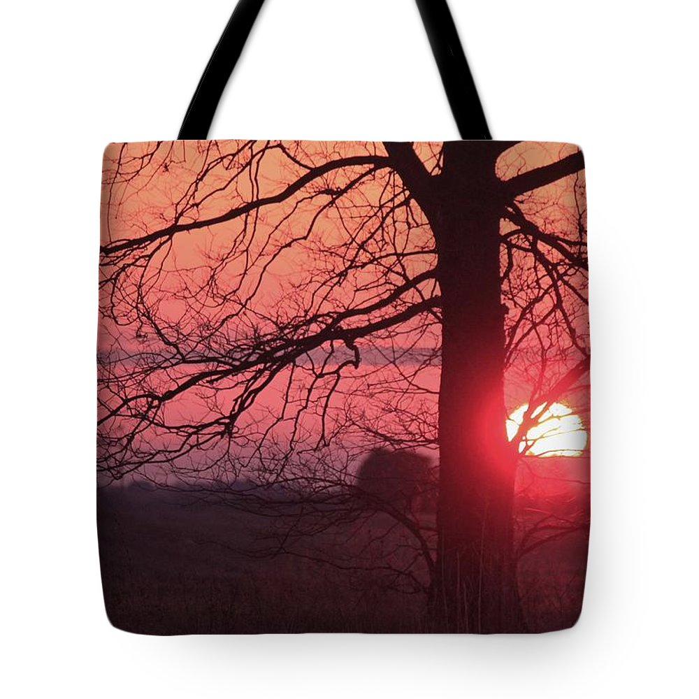Country Tote Bag featuring the photograph Country Sunset by Dan Young