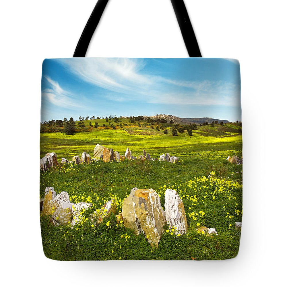 Agriculture Tote Bag featuring the photograph Countryside With Stones by Carlos Caetano