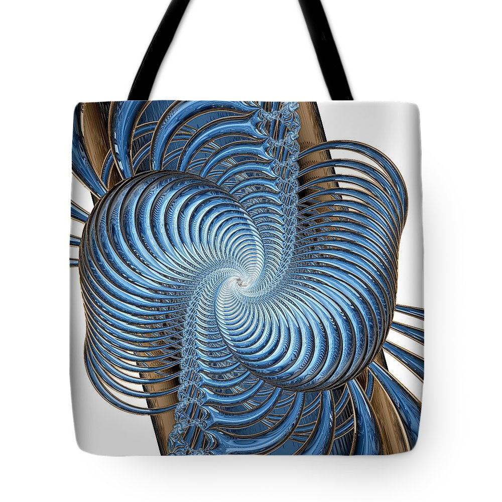 Fine Art Tote Bag featuring the digital art Coupling by Kevin Trow