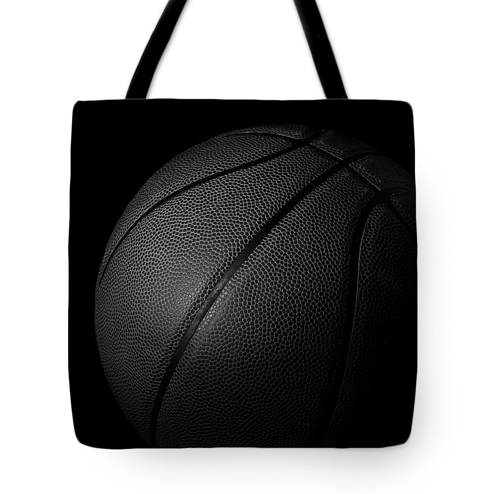 Basketball Tote Bag featuring the photograph Court Star by Mark McKinney