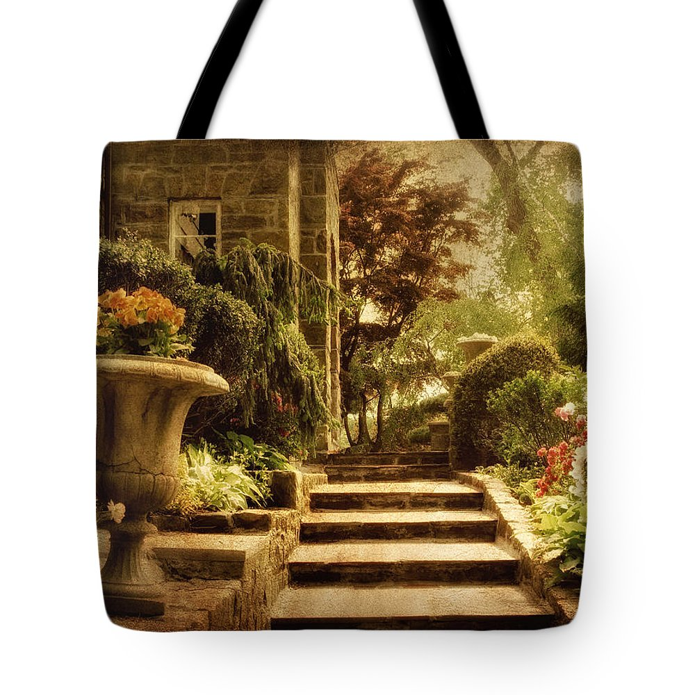 Garden Tote Bag featuring the photograph Courting Spring by Jessica Jenney