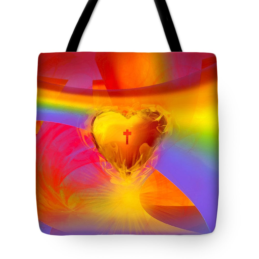 Covenant Glory Tote Bag featuring the digital art Covenant Glory by Jennifer Page