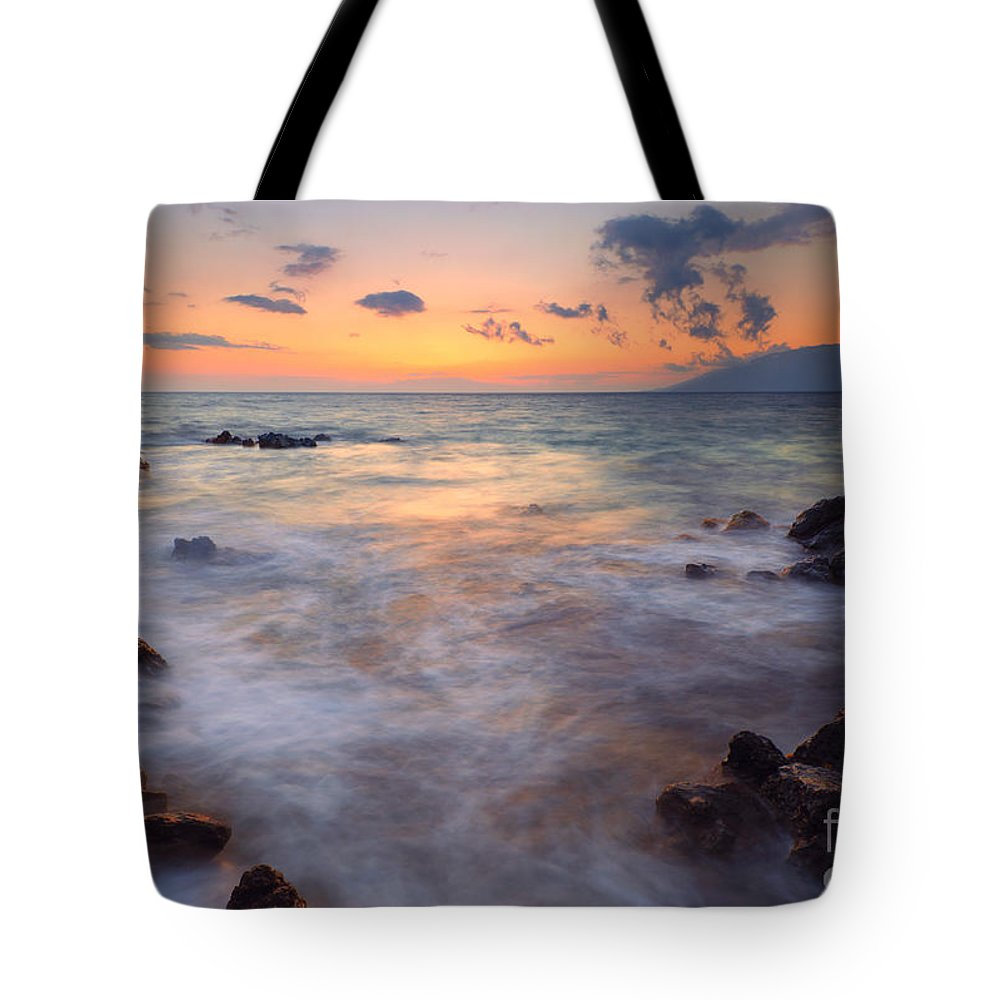 Maui Tote Bag featuring the photograph Covered By The Sea by Mike Dawson