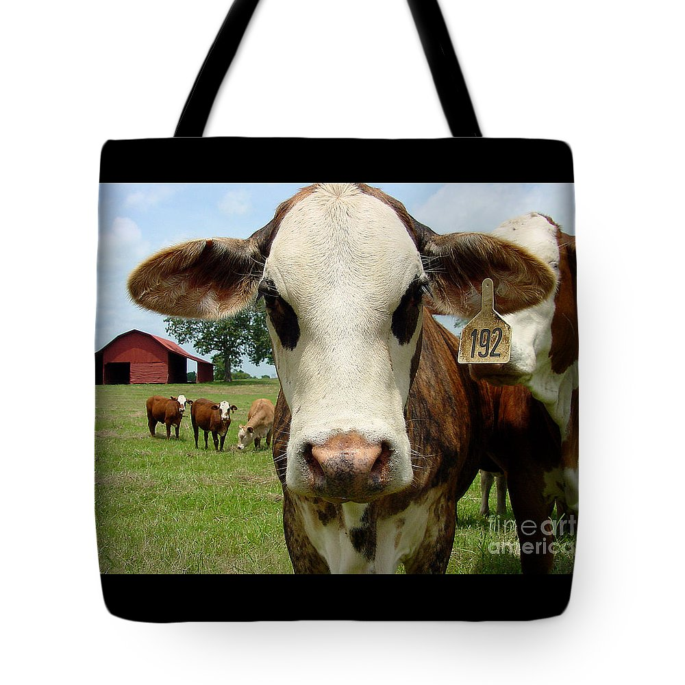 Cow Tote Bag featuring the photograph Cows8957 by Gary Gingrich Galleries