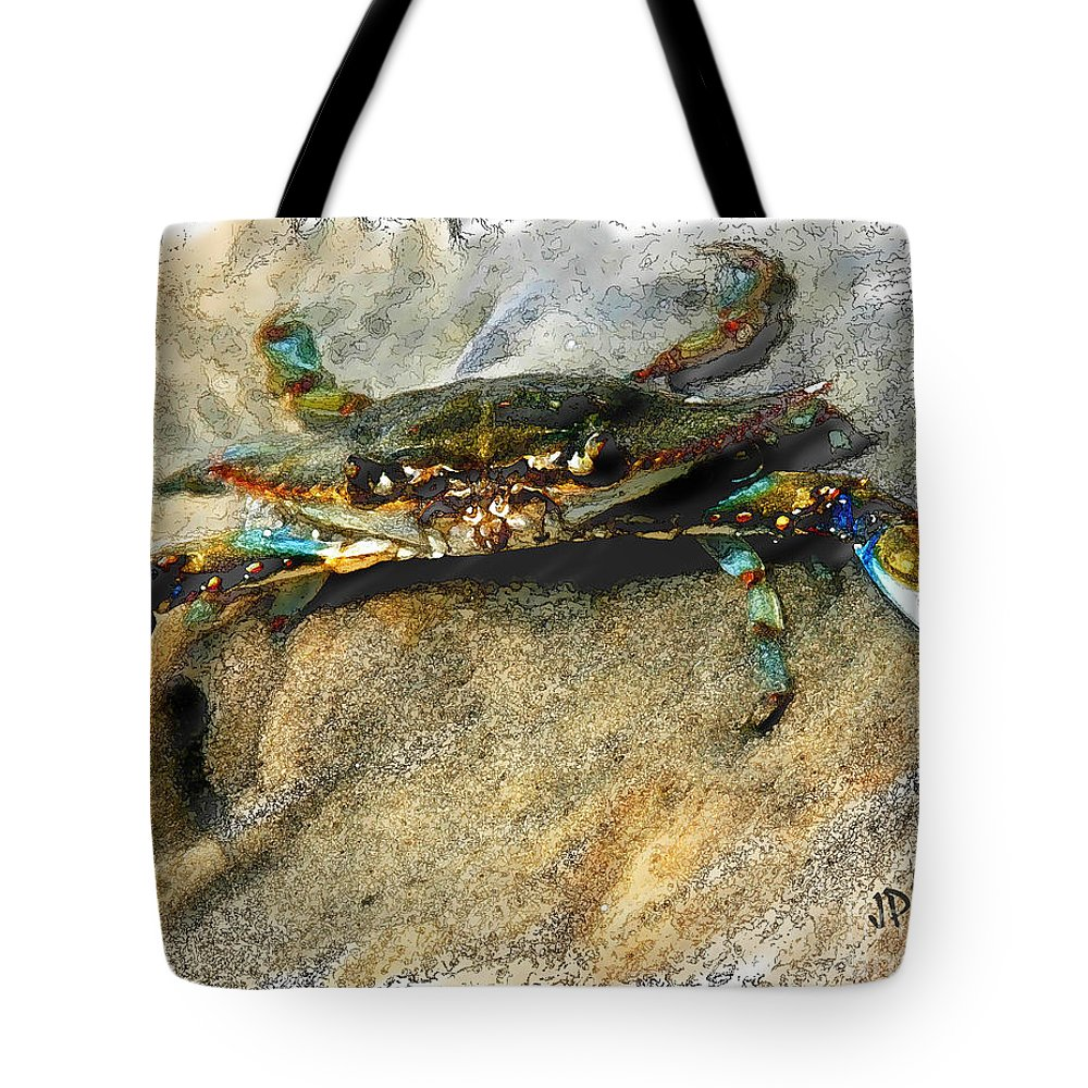 Crab Tote Bag featuring the photograph Crab Sketch Photo by Joan McCool