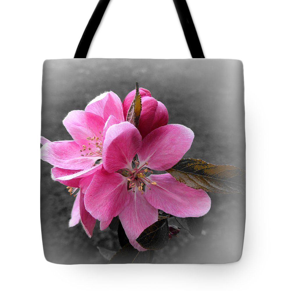 Macro Tote Bag featuring the photograph Crabapple Flower by Pete Trenholm