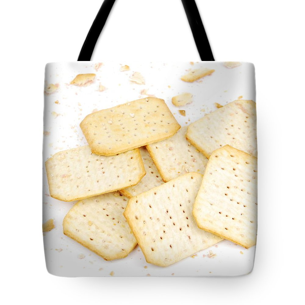 Crackers Tote Bag featuring the photograph Crackers by Luis Alvarenga