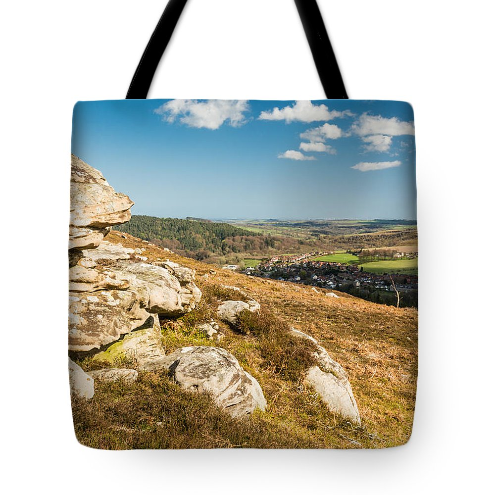 Northumberland Tote Bag featuring the photograph Crags Over Rothbury by David Head