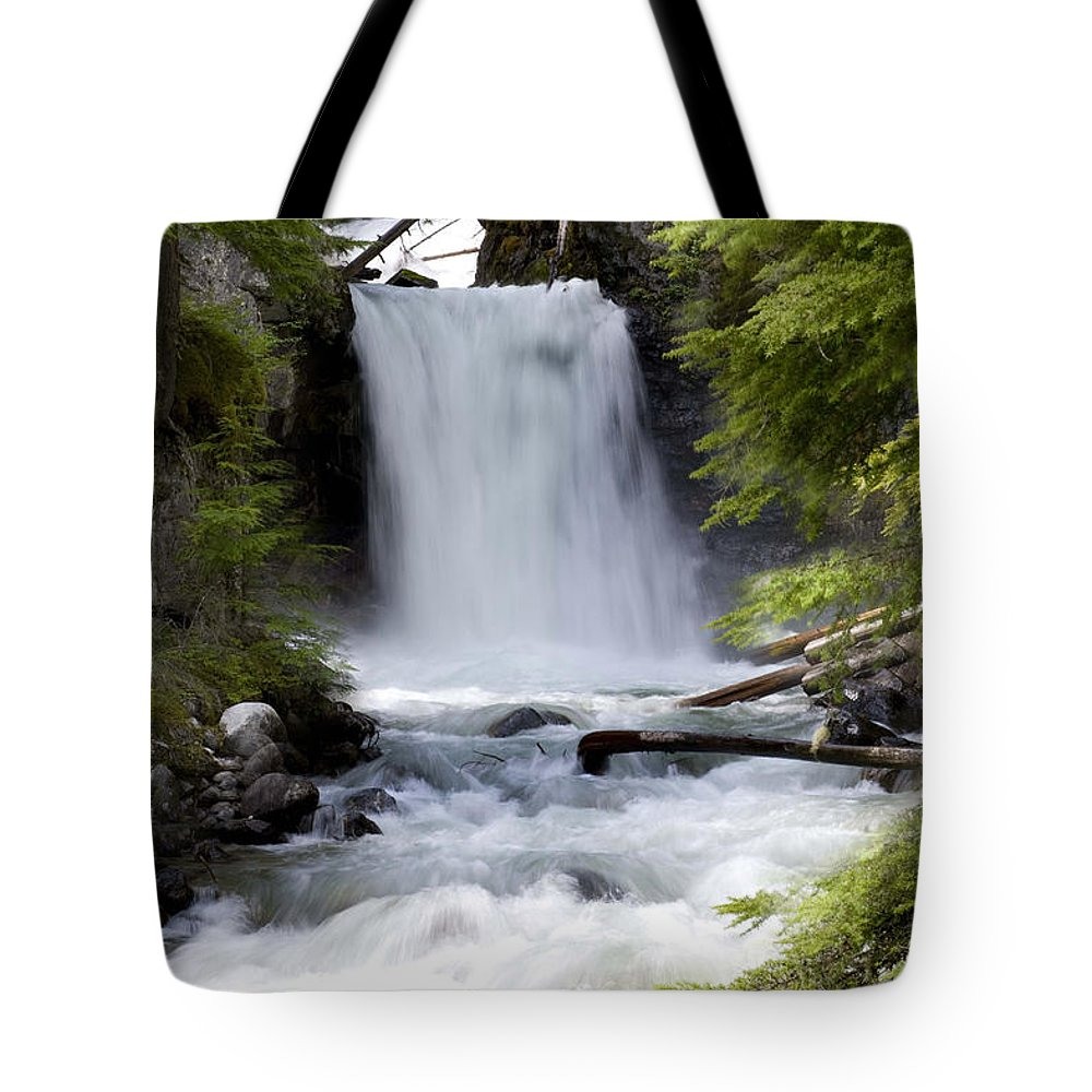 #nature Tote Bag featuring the photograph Crandel Creek Falls by Randy Giesbrecht