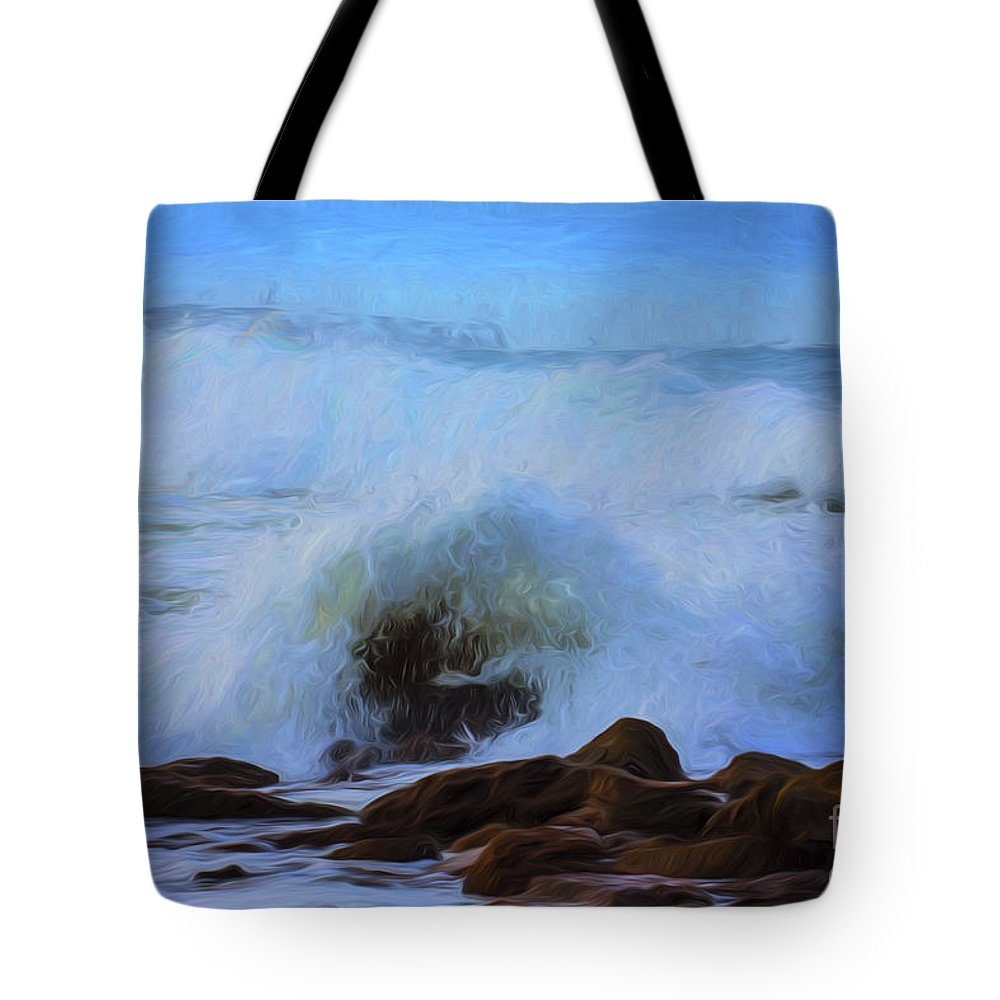 Crashing Waves Tote Bag featuring the photograph Crashing waves by Sheila Smart Fine Art Photography