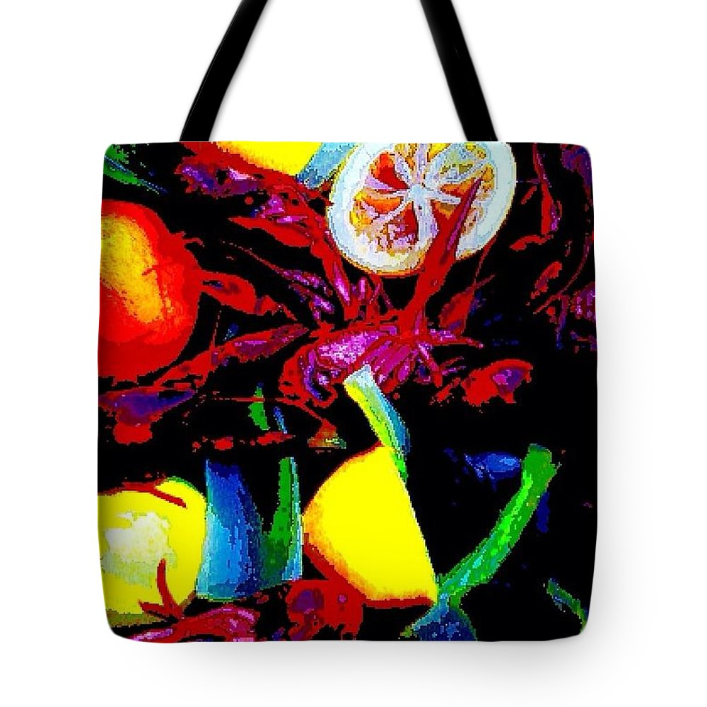 Crawfish Tote Bag featuring the digital art Craw Daddies by John Duplantis