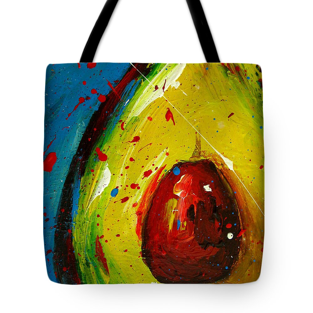 Painting Tote Bag featuring the painting Crazy Avocado 4 - Modern Art by Patricia Awapara