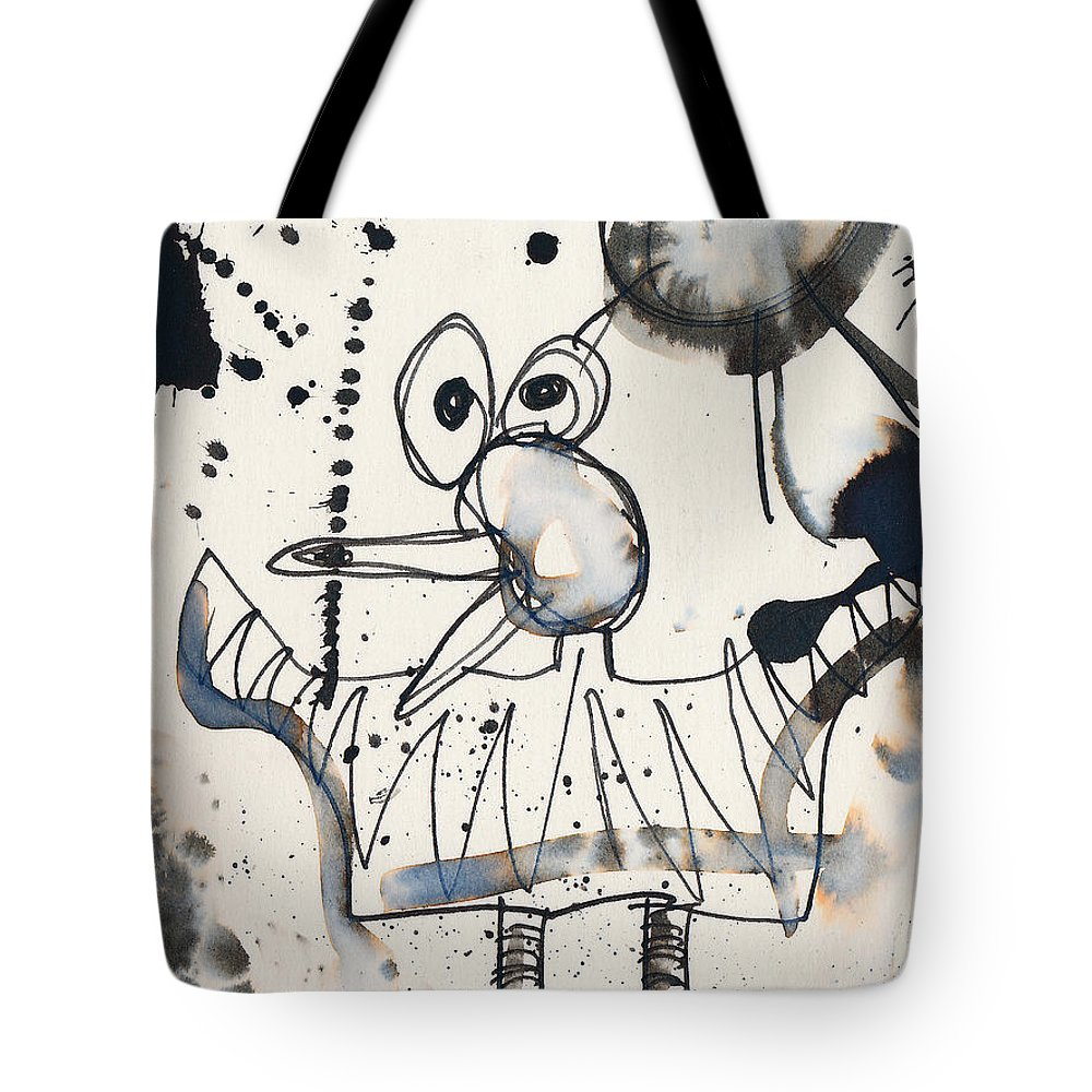 Bird Tote Bag featuring the painting Crazy Bird by Christopher Winkler